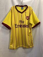 Arsenal Fly Emirates Boys Kids Short Sleeve Soccer Jersey T-Shirt Size 16 Yellow