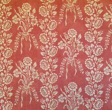 DESIGNERS GUILD Amandine Manton Prints Floral Red Linen Cotton Remnants New