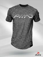 PIMD Scatter Grey Tee - Fitness Workout Logo Gym T Shirt Muscle Bodybuilding
