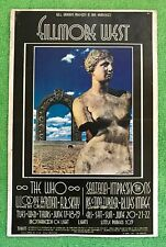 THE WHO SANTANA Fillmore West Handbill (June 17th 1969) Ike & Tina Turner & GIFT
