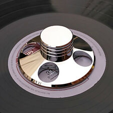 LP Vinyl Turntables Metal Disc Stabilizer Record Weight / Clamp Silver