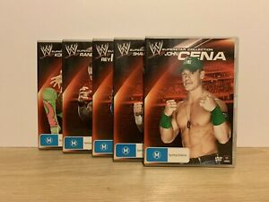 5 X WWE Superstar Collection Dvds. John Cena, Rey Mysterio Plus More