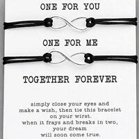 2pcs Set Couple Bracelet Infinity Lovers Together Forever Love String Bracelets