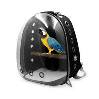 EE_ Transparent Pet Backpack Parrot Carrier Cage Bird Travel Bag Stand House Sig