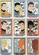 Star Trek Animated Adventures 9 Card Enterprise Bridge Crew Set BC1 - BC9