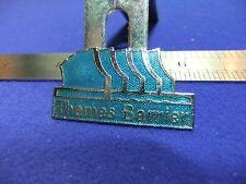 vtg badge thames barrier london souvenir tourist staff worker 1980s tourism