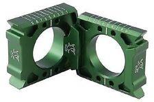 Hammerhead GREEN Axle Blocks. Kawasaki KX 250F KX250F 2004-15  04-0001-00-30