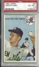1954 Topps #37 Whitey Ford Yankees HOF VG/EX+ Well Centered