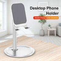 Aluminum Desktop Phone Holder Desk Stand Mount Adjustable for iPhone iPad Tablet