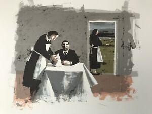 "KAROLINA LARUSDOTTIR (1944-2019) ""Dinner for one"" lithograph Curwen Chilford"