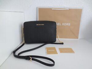 Michael Kors Tasche LG Crossbody Black Schwarz Gold Taschen Schultertasche neu