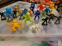 Vintage Lot of Soma Rubber Toys Figures Mini NINJA RARE 1980s