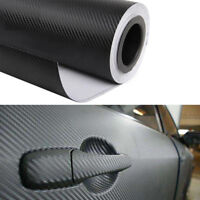 Auto 3D Carbon Folie Blasenfrei Matt Wrapping Wasserdicht Schwarz Decal 127x40cm