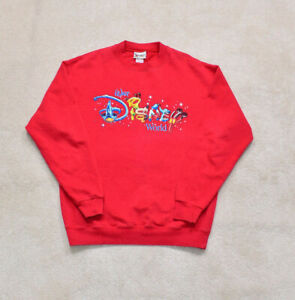 Vintage Disney Red Character Print Spell Out Sweater Size Large