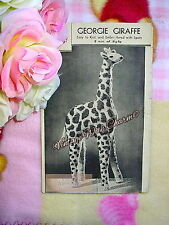 Vintage 1940s Toy Knitting Pattern 'Georgie Giraffe' 16½ ins Tall!  JUST £1.69