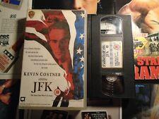 JFK - WARNER HOME VIDEO - BIG BOX - EX RENTAL VHS - RARE