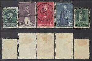Belgium 1930 sets.Sc.216-20.