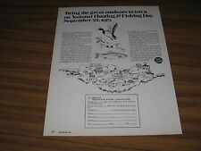 1973 Print Ad National Hunting & Fishing Day September 22, 1973