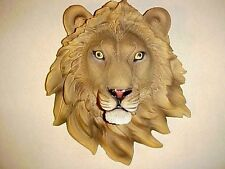 "9"" LION Head Wall Mount Safari Jungle Animal Wildlife African Exotic Bust Decor"