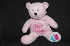"Pink First Lady Petting Zoo Bean Bag Rose  Lovey Toy 9"" Plush Stuffed Animal"