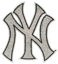 New York Yankees Bling Auto Emblem [NEW] MLB Car Truck Decal Glitter Sticker CDG