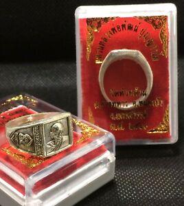 A ring Plog Meed Phra-Is-suan, LP Phat, Wat Banjan,B.E.2560,Size 11,Thai Amulet.