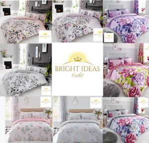 DUVET COVER SET Quilt Pillow Cases Reversible Soft Bedding Double King Size