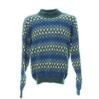 Vintage Pullover Größe L Sweatshirt Sweater Retro Muster Mehrfarbig Stehkragen