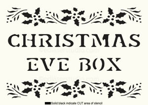Eve Box Stencil Christmas Vintage Paint Wall Wooden Gift Reusable  Crafts CH13