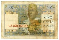 Comoros … P-4b … 500 Francs … ND (1960-63) ... *F+*.