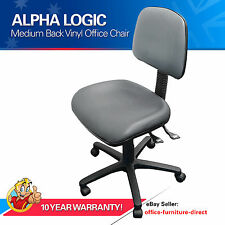 Ergonomic Chair, Charcoal Vinyl Office Computer Desk Chairs Study AFRDI Gas Lift