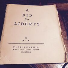 "Antique Book ""A Bid for Liberty"" Pennsylvania Declaration Independence WPA proje"