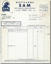 Facture - OUTILLAGE SAM Saint-Etienne 1960