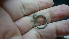 Medieval Bronze rope pendant could be made wearable Uncleaned condition L265