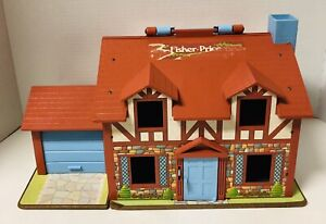 Vintage Fisher Price 1980 Brown Tudor HOUSE ONLY Little People 952