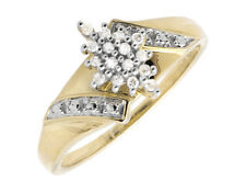10K Yellow Gold Marquise Composite Genuine Diamond Engagement Ring 0.10ct.
