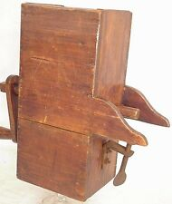 ANTIQUE WOODEN HOPPER DUTCH TABLE TIN GRINDER POTATO FOOD GRATER 19e HANDLE ART