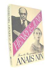 Extra Nice 1st Editon Anaïs Nin's HENRY & JUNE, Harcourt Brace Jovanovich, 1986