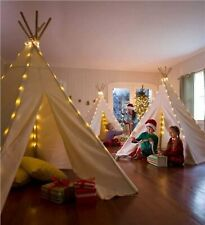 Kids Play Teepee with Lights | Children's Gift For Holiday Season (OffWhite)