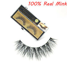 100% Mink Natural Thick False Fake Eyelashes Eye Lashes Makeup Extension