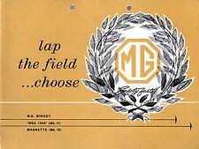 MG 1961-62 UK Market Foldout Sales Brochure Midget Magnette MGA