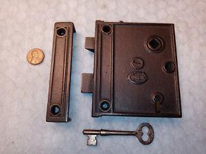 Rim Lock Only Reversible Restored Corbin w/key