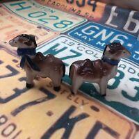 Vintage Salt And Pepper Shakers Camels With Blue Bows Ceramic Japan