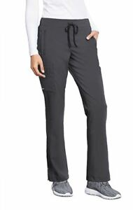 """Barco Motion Style MP001 Elastic Drawcord Cargo Scrub Pant in """"Pewter"""" Size XL"""