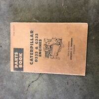 CATERPILLAR CAT TRUCK SEMI D333 G333 ENGINE PARTS INDUSTRIAL MANUAL BOOK  58B