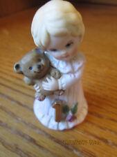 "Enesco Growing Up Birthday Girls Age 1 Bear Porcelain 2 1/4"" Figurine"
