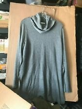 NWT Adrienne Vittadini Cowl Neck Tunic Sweater STEEL HEATHER GRAY Size L