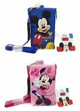 (2x) Disney Mickey & Minnie Mouse Lanyard ID Ticket Badge Holder Wallet