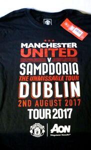 OFFICIAL MAN U v SAMPDORIA UNMISSABLE TOUR LARGE T SHIRT TOP 2ND AUGUST 2017 NEW