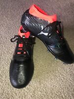 PUMA One 18.1 FG Soccer Cleat 104533 01 Black Silver Red Blast Men's Size 11.5